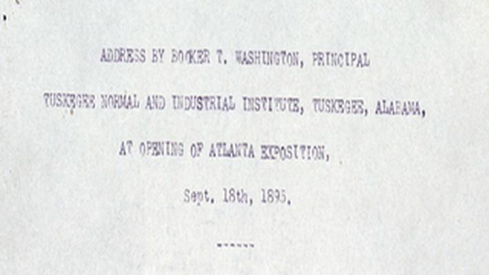 Booker T. Washington's Atlanta Exposition Speech