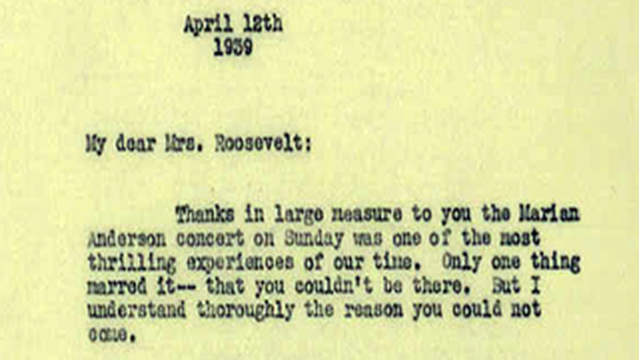 A Letter from Walter White to Jesse Owens