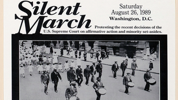 Flyer for the 1989 Silent March on Washington