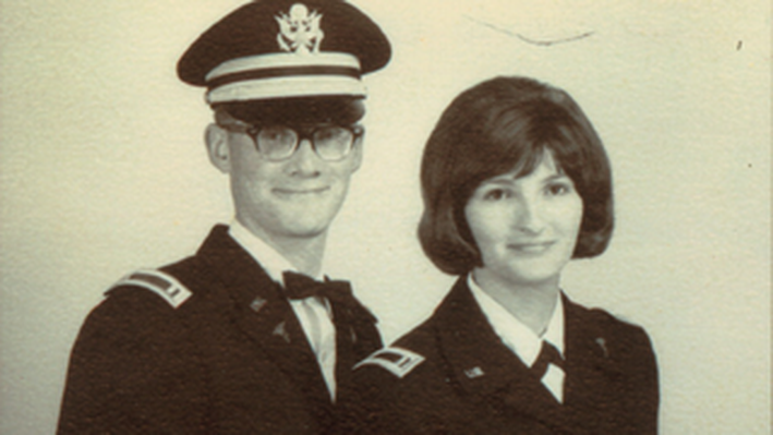 1st Lt. Brian Markle and 2nd Lt. Jeanne (Urbin) Markle, Shortly After Their Wedding