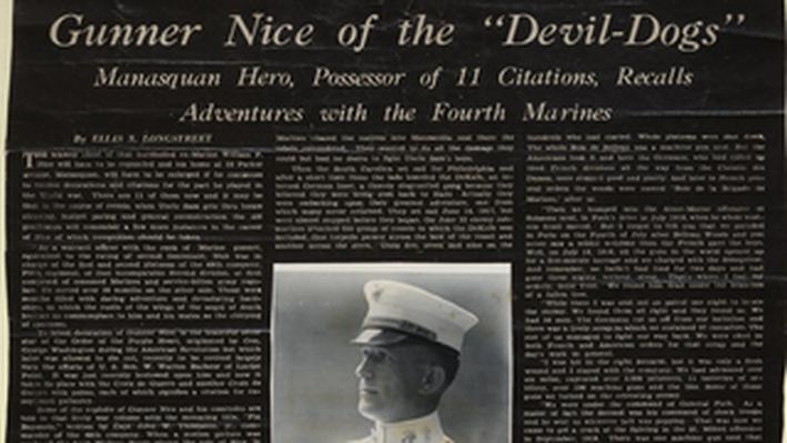 """Gunner Nice of the """"Devil Dogs"""""""