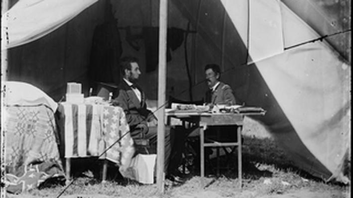 President Lincoln at Antietam