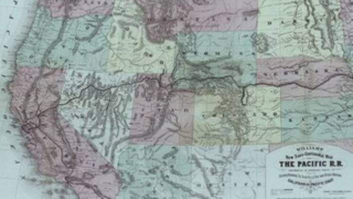New Transcontinental Map Detailing Railroad Routes