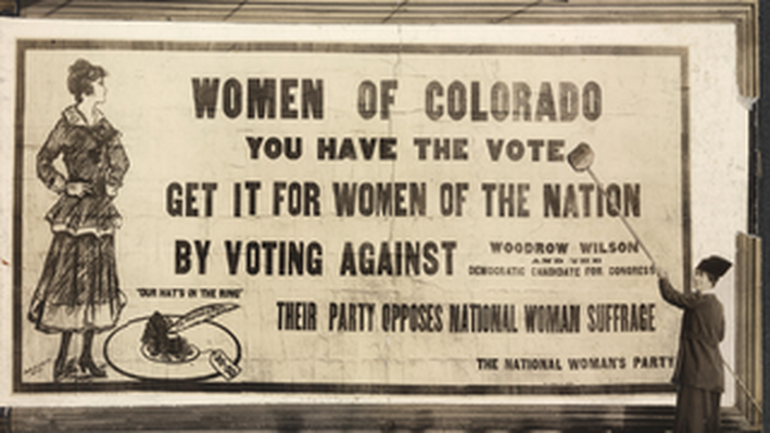 Part of the Vast Billboard Campaign of the Woman's Party
