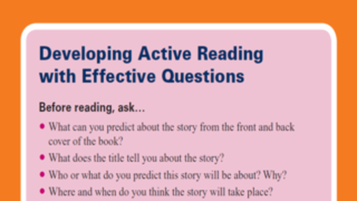 PBS TeacherLine Tips for Developing Active Reading