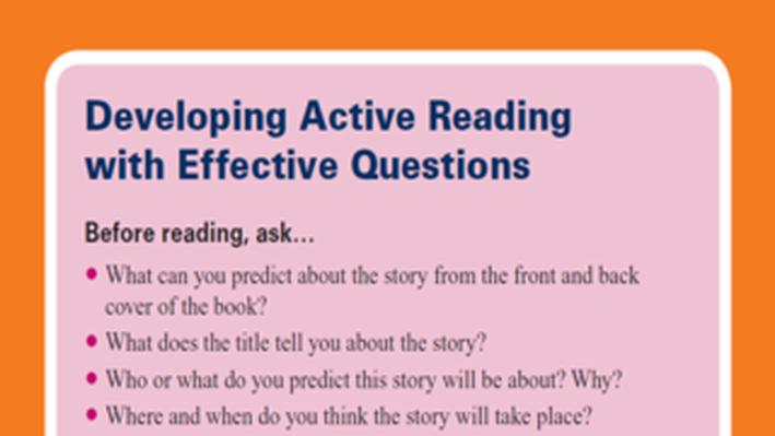 PBS TeacherLine Tips for Developing Active Reading
