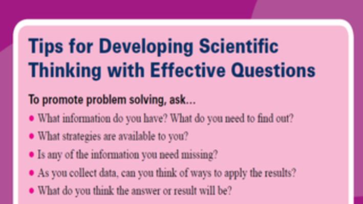 PBS TeacherLine Tips for Developing Scientific Thinking