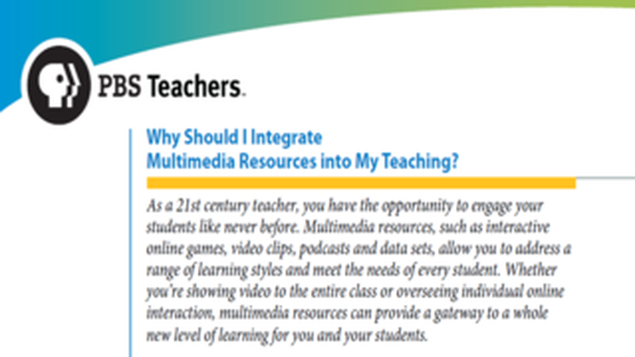 PBS TeacherLine Tips for Using Multimedia in the Classroom