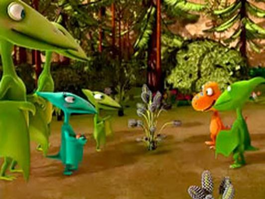 Dinosaur Train | A Plant that Eats Bugs!