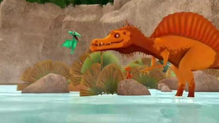 Dinosaur Train | Buddy Learns How to Fish