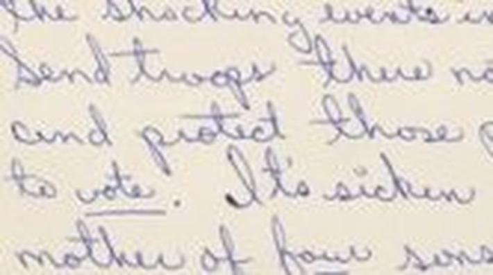 Mrs. Jackson's Letter