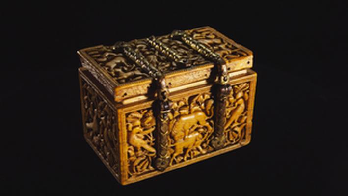 Carved Ivory Casket: 10 C. Spain
