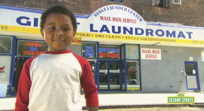 Word on the Street: Laundromat   Sesame Street