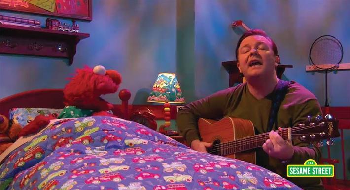 Ricky Gervais: Celebrity Lullabies | Sesame Street