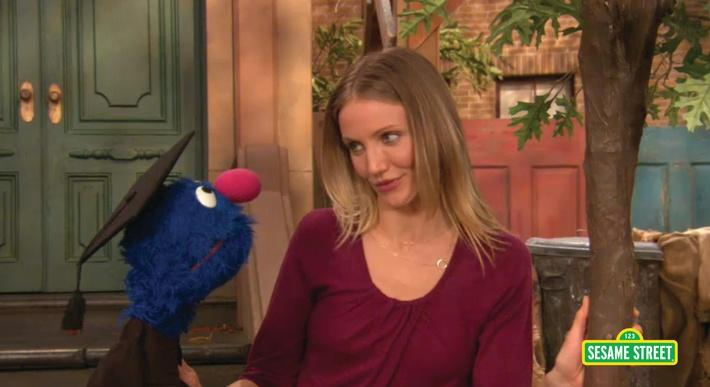 Cameron Diaz: Talks about Trees with Grover | Sesame Street