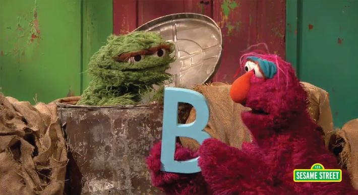 Telly, Oscar and the Letter B | Sesame Street