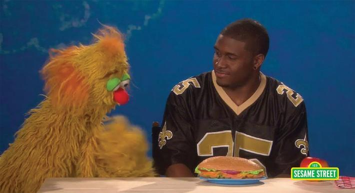 Reggie Bush: Appetite | Sesame Street
