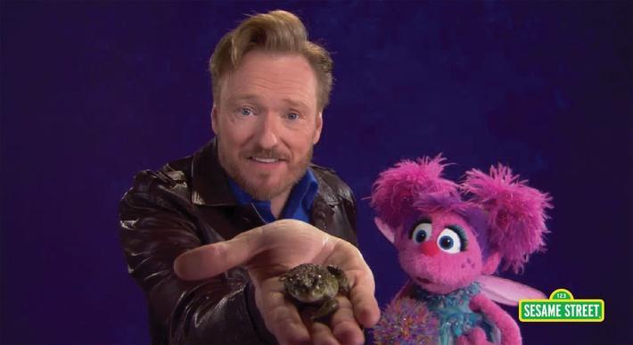 Conan O'Brien: Amphibian | Sesame Street