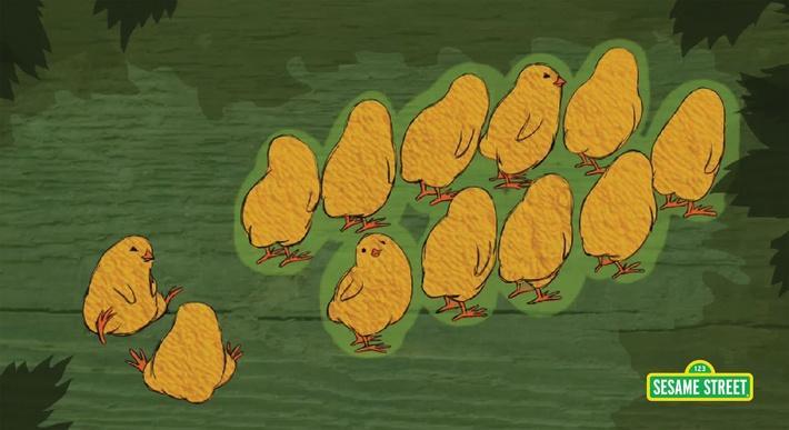 12 Little Chicks Song | Sesame Street