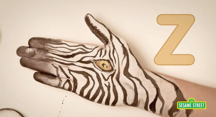 Hand Painted: Z Is for Zebra | Sesame Street