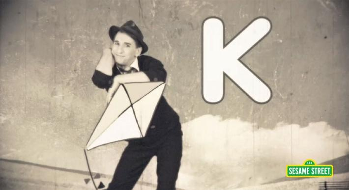 Goldmime: K Is for Kite | Sesame Street
