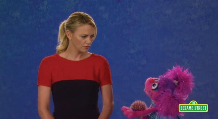 Charlize Theron: Jealous | Sesame Street