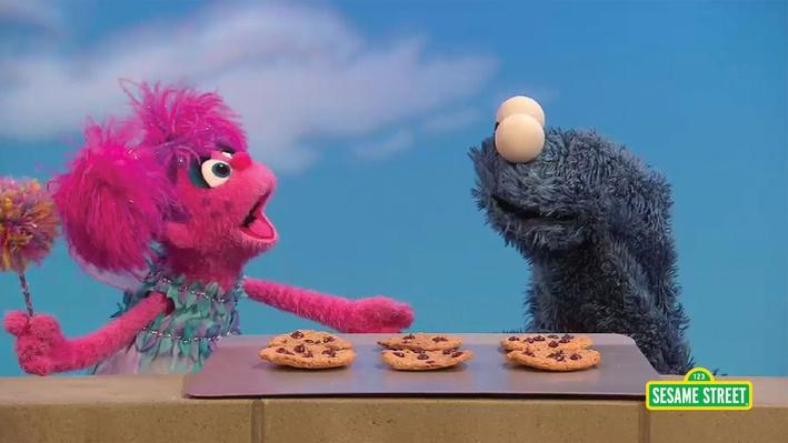 Abby And Cookie Monster Subtract Cookies | Sesame Street