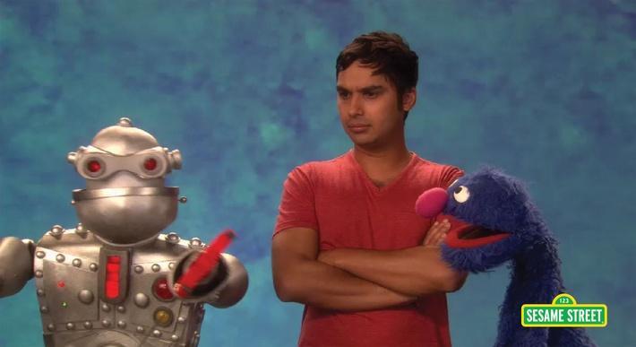 Kunal Nayyar: Robot | Sesame Street