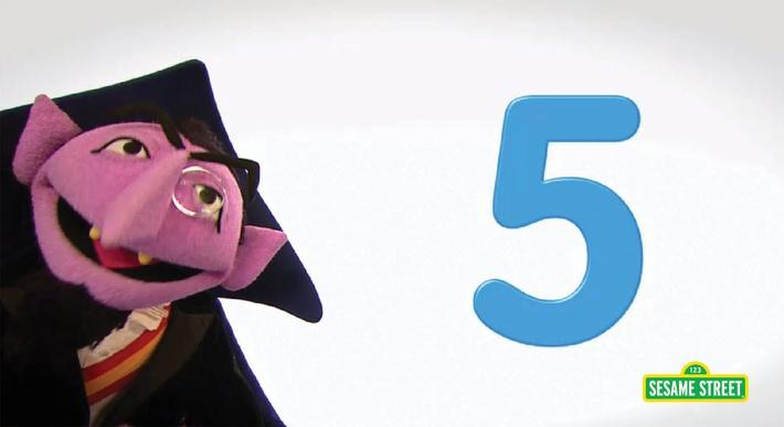 Song: Number of the Day: 5 | Sesame Street