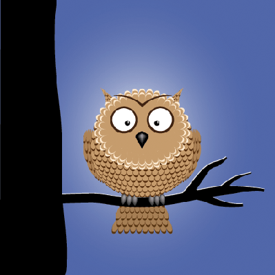Cute Night Owl | Clipart