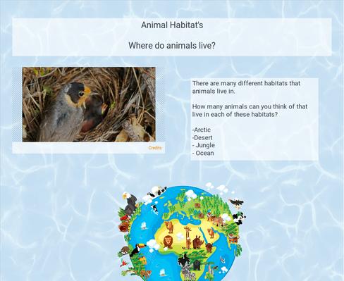 WVUP l animal habitats