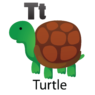 Animal Alphabet - T for Turtle | Clipart