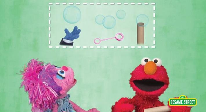 Experiments: Catching Bubbles | Sesame Street