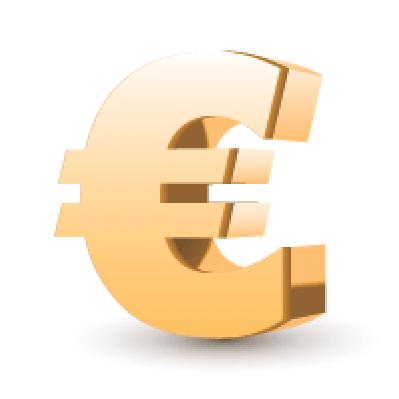 Golden Euro Symbol | Clipart