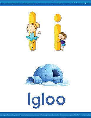 Alphabet Worksheets - I for Igloo | Clipart