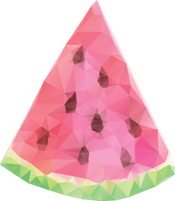 Watermelon With Geometric Triangles Texture | Clipart