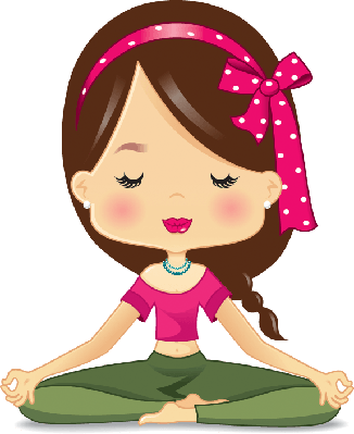Meditation, Lotus Position: Illustration | Clipart