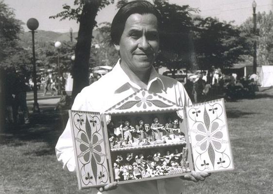 Hispanic Culture in Utah: Jeronimo Lozano with a Retablo