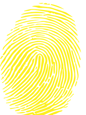 A Fingerprint in CMYK Colour | Clipart