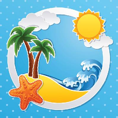 Tropical Island | Clipart