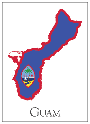 Guam Flag Map | Clipart