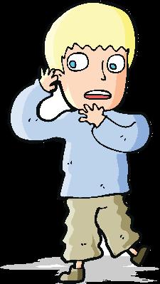 Cartoon Frightened Boy | Clipart