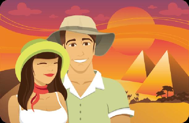 Honeymoon in Egypt | Clipart