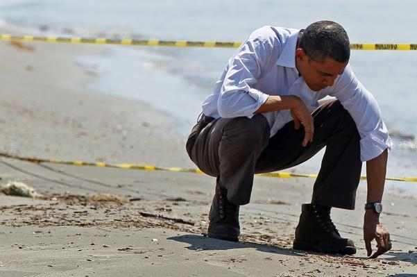 President Obama Tours Oil Spill Area In Gulf | Human Impact on the Physical Environment | Geography