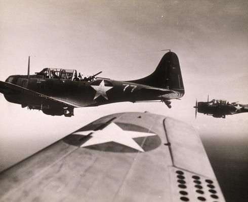 MARINE DIVE BOMBERS, PACIFIC THEATRE, WORLD WAR II   The Evolution of Military Aviation