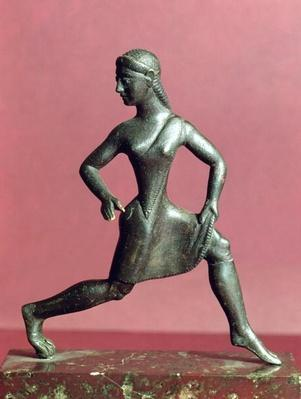 Figurine of a girl running,