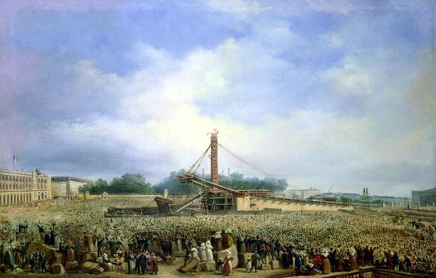 Erecting the Obelisk from Luxor in the Place de la Concorde, 25 October 1836