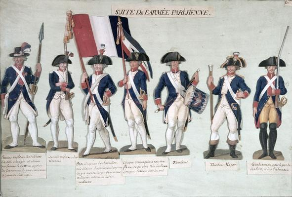 The Parisian Army during the French Revolution c. 1789