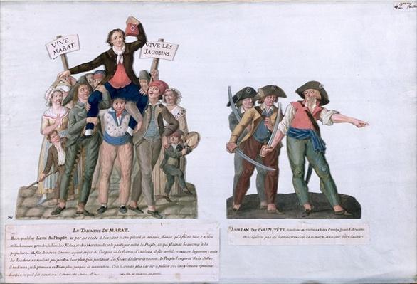 The Triumph of Marat and Camille Jordan said 'Cut off their Heads', c.1792