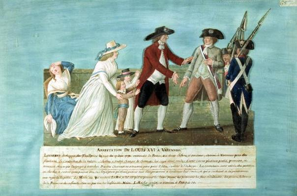 The Arrest of Louis XVI and his family at Varennes, 21 June, 1791